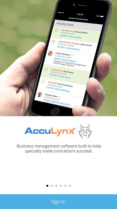 AccuLynx iPhone Screenshot 1