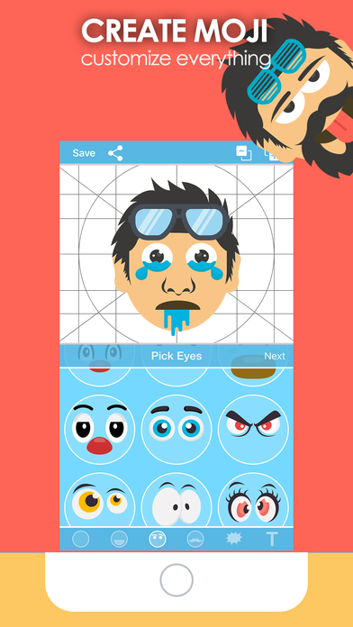 Moji Creator - Emoji Generator & Maker for sticker 앱스토어 스크린샷