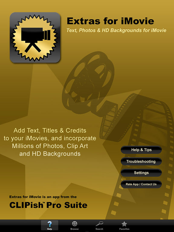 Extras for iMovie Screenshots