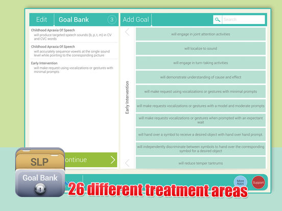 SLP Goal Bank iPad Screenshot 2