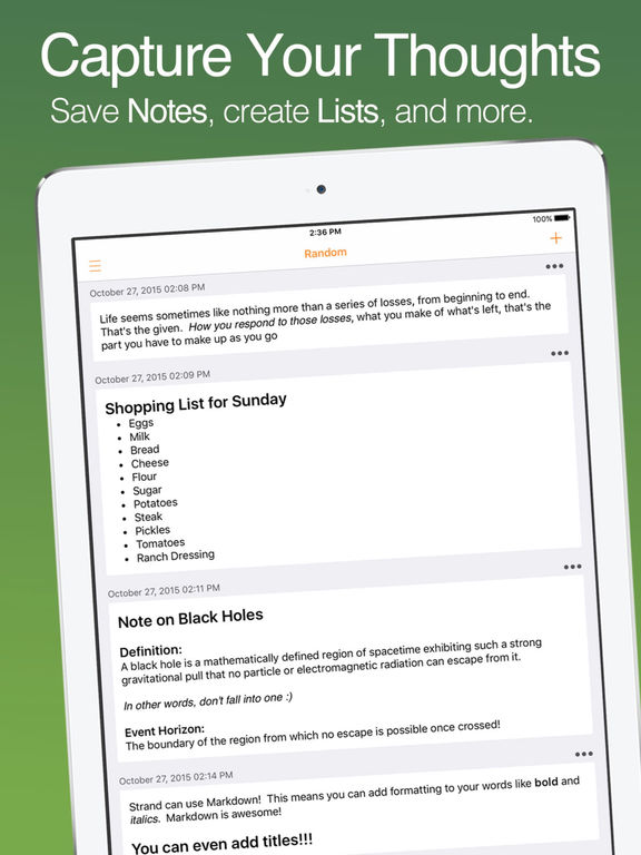 Endnote - Keep your Thoughts and Ideas Screenshots