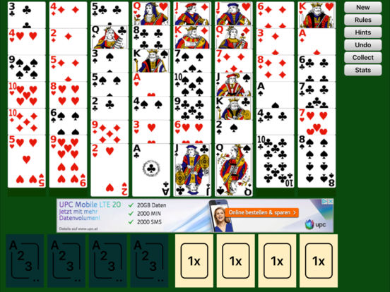 Free Cell Solitaire iPad Screenshot 1