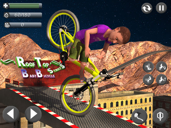 Rooftop Baby Bicycle Stunts screenshot 5