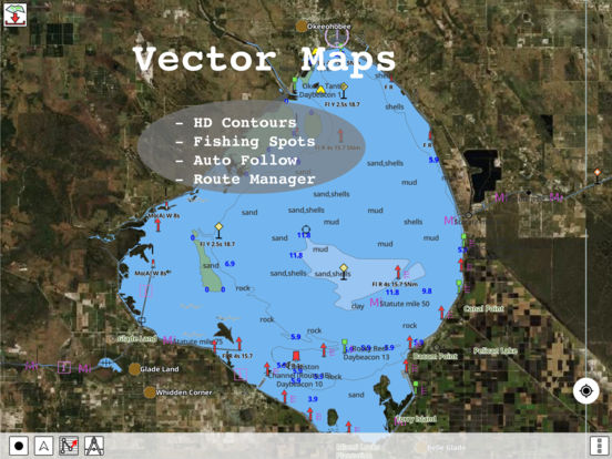 Gps fishing maps on the app store for Florida fishing app