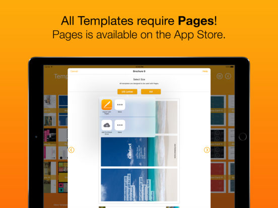 Templates for Pages (for iPad, iPhone, iPod touch) 앱스토어 스크린샷