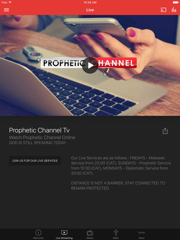 Screenshot #2 for Prophetic Channel Tv