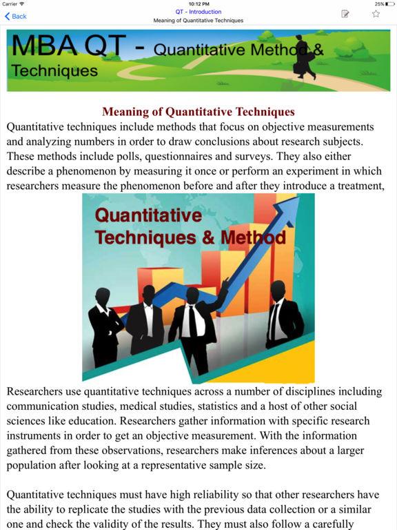 introduction to quantitative techniques
