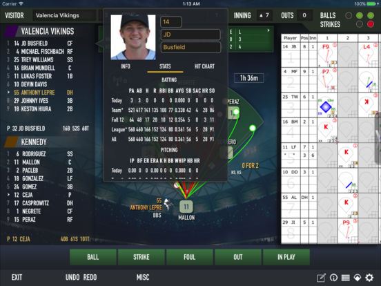ESPN iScore Baseball Scorekeeper for iPad iPad Screenshot 3