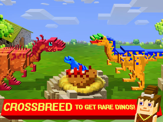 Screenshots of Jurassic Pixel Craft : Block dinosaur world games for iPad