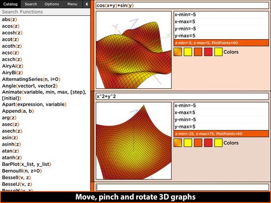 MathStudio Express - Symbolic graphing calculator Screenshots