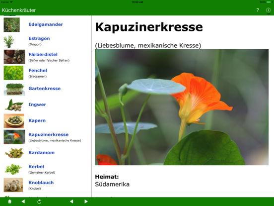 Küchenkräuter iPad Screenshot 4