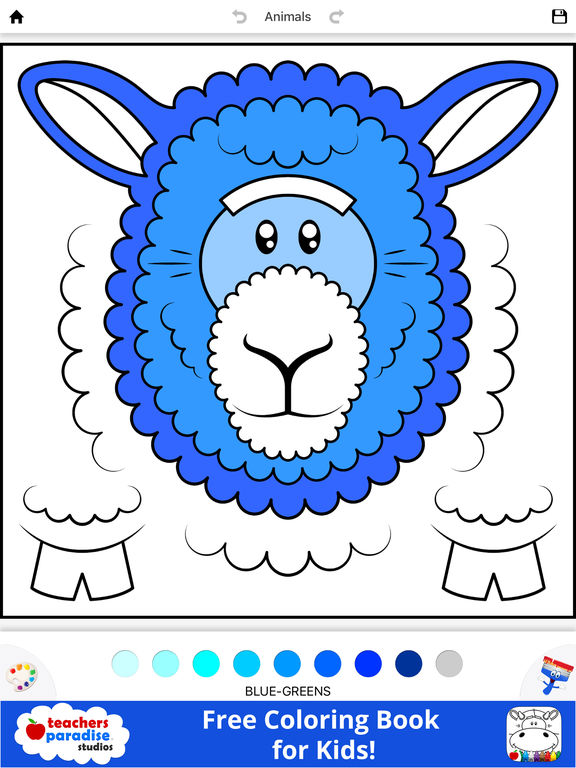 App Shopper Coloring Book For Kids Animal Square Heads Books