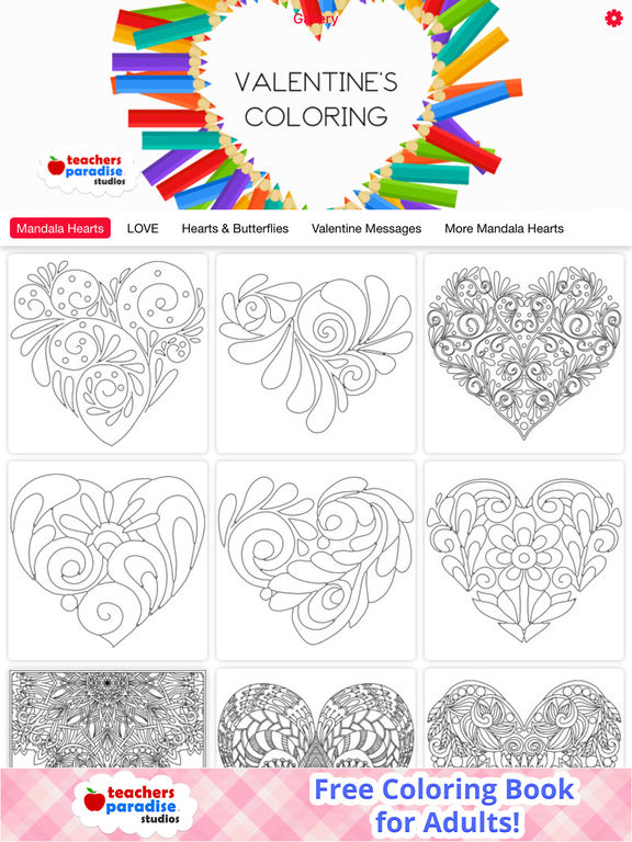 App Shopper Adult Coloring Books Valentines Day Books