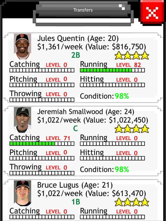 Baseball Fantasy Screenshots