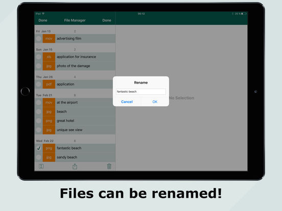 FileCalendar – Manage events & files, write notes Screenshots