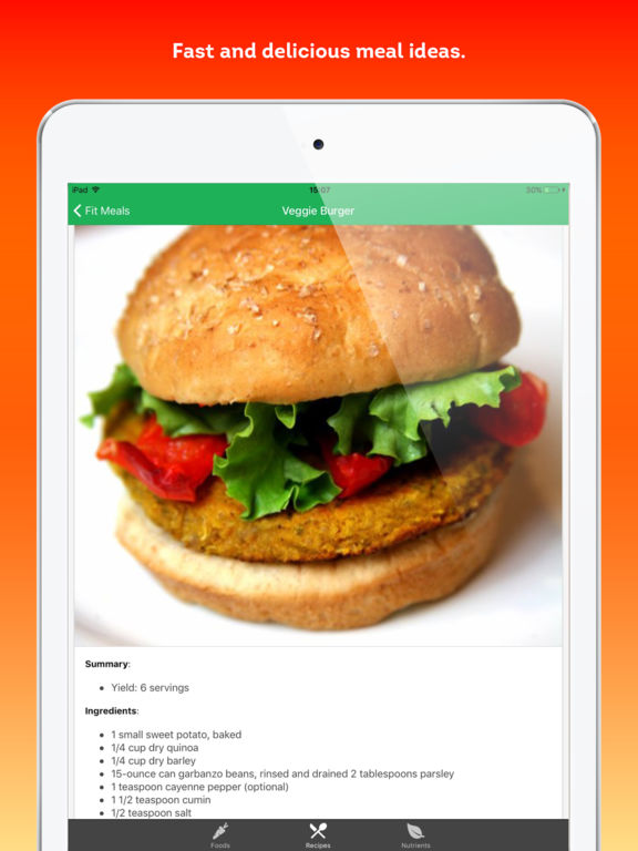 Fit Meals - healthy recipes and diet ingredients Screenshots