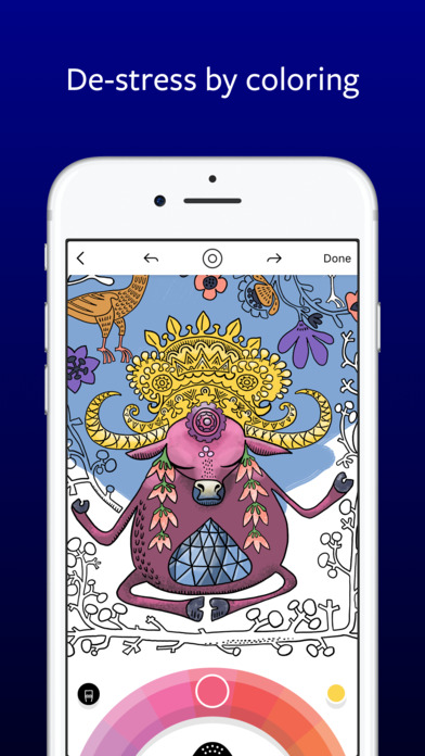 Lake: De-Stress Therapy with Art Coloring Pages iPhone