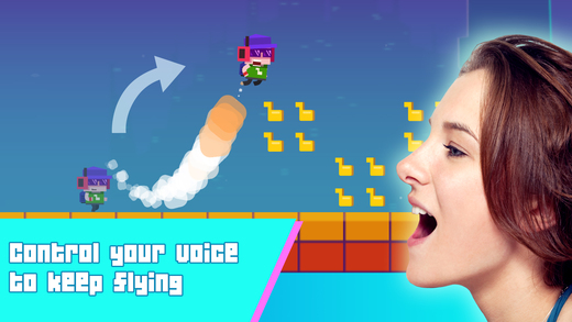 Scream Flying released for iOS Devices - The Ultimate Voice Control Game Image