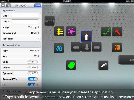 Air Keyboard: remote touch pad and custom keyboard Screenshots