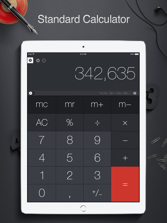 Screenshot #1 for Calculator Pro for iPad - Calculator & Converter