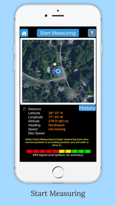 iMeasurer - Accurately measure distance using GPS Screenshots