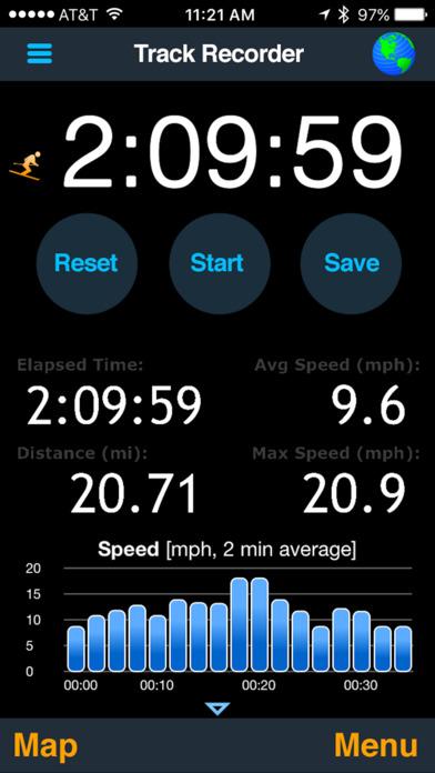 MotionX GPS Screenshot