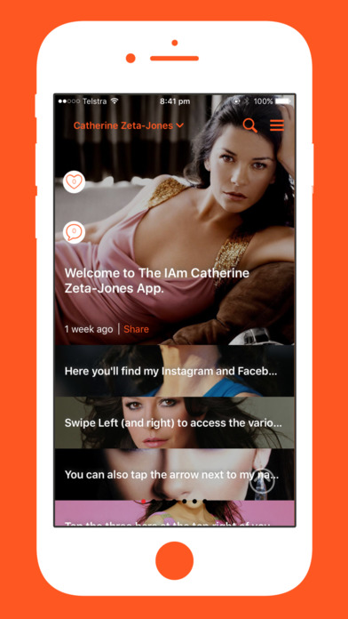 The IAm Catherine Zeta-Jones App screenshot 1