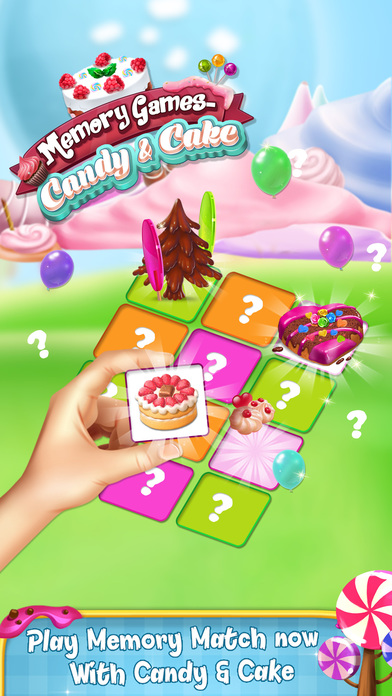 Memory Game : Cake and Candy screenshot 1