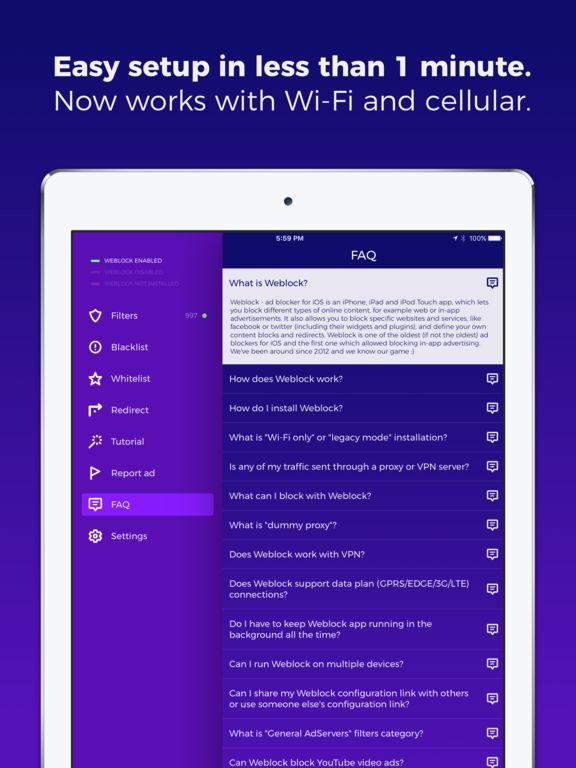Weblock - ad blocker for apps and websites Screenshot