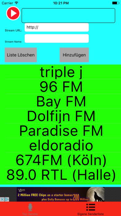 Internet-Radio Player screenshot 2