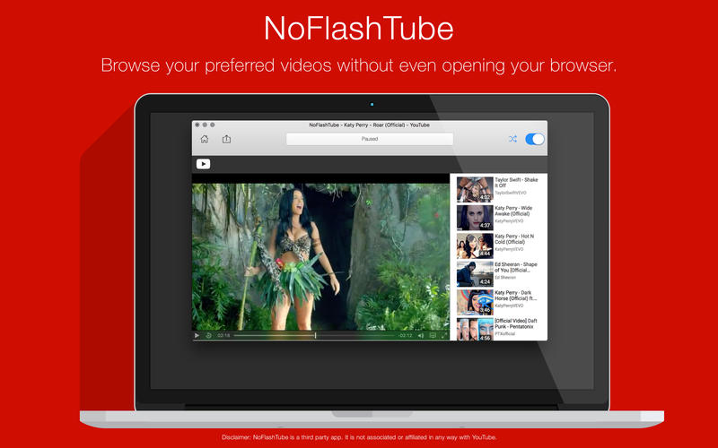NoFlashTube - A player for YouTube Screenshots