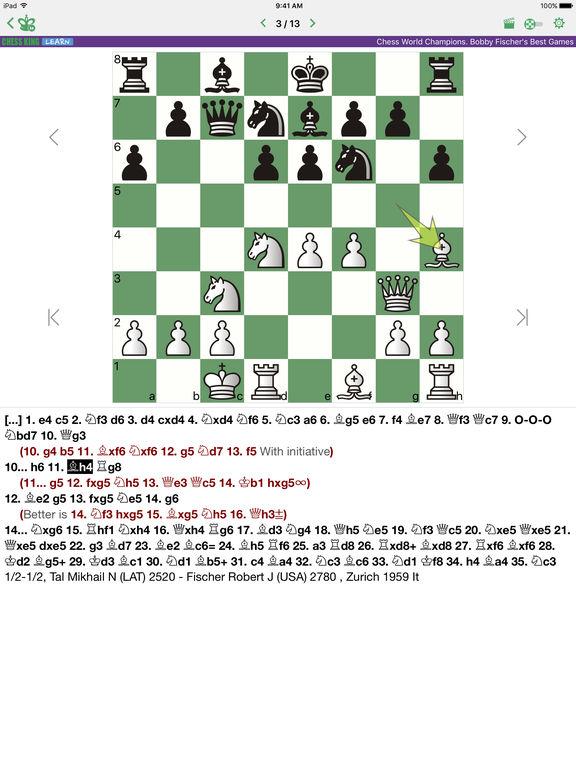 Bobby Fischer. Chess Championscreeshot 2