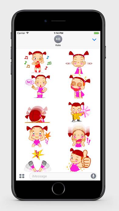 Kids: Little Girl 2 Stickers screenshot 2