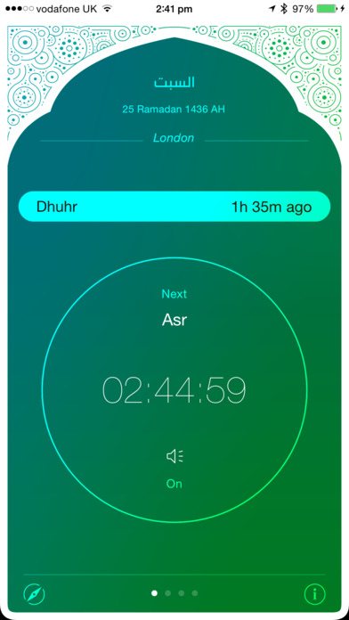 iPray: Prayer Times & Qibla Compass screenshot 1