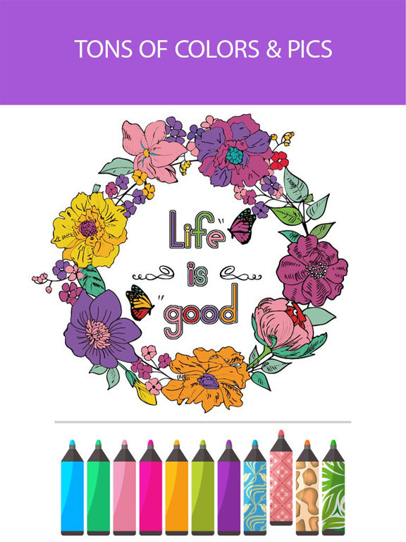 Coloring therapy app shopper adult coloring book color therapy pages - App Shopper Coloring Book Inspiration Color Therapy