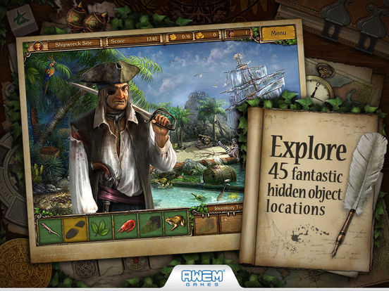 Screenshot #1 for Golden Trails 2: Hidden Object Adventure (Premium)