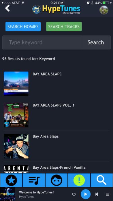 HypeTunes screenshot