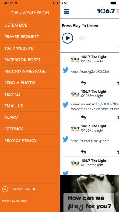 106.7 The Light iPhone Screenshot 2