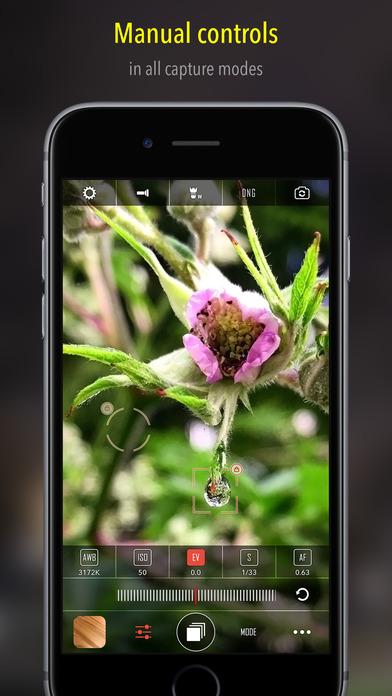 CameraPixels - manual camera + RAW Screenshots