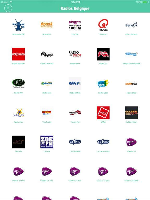 Radios Belgique Pro (Belgium Radio Brussels FM) Screenshots