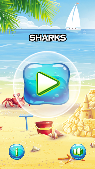 Sharks and friends Match 3 puzzle game screenshot 1
