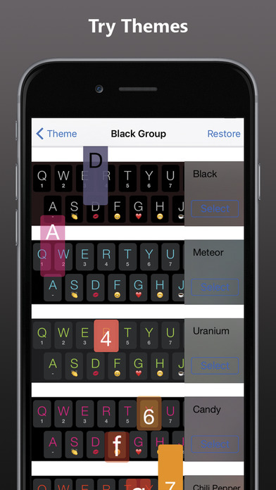 AspectKey - Color keyboard themes with emoji Screenshots