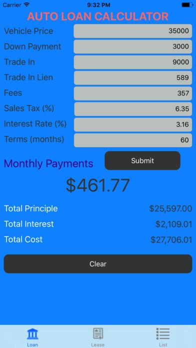 app shopper car loan calculator auto loan lease calculator finance. Black Bedroom Furniture Sets. Home Design Ideas
