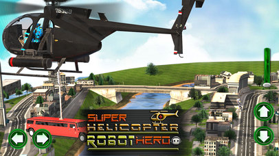 Super Helicopter Robot Hero screenshot 1