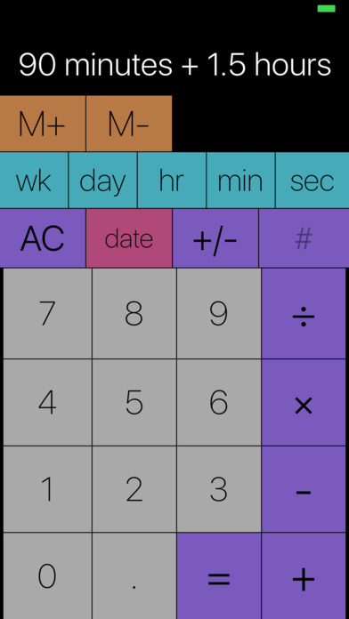 Time Calc - Duration Date and Time Calculator Screenshots