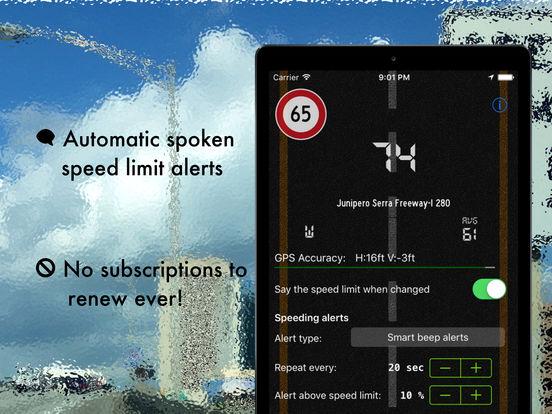 Live speed limit alerts - avoid speeding tickets Screenshots