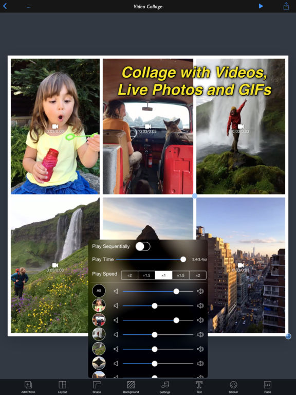 InstaVideo+ - All In One Collage Maker Screenshots