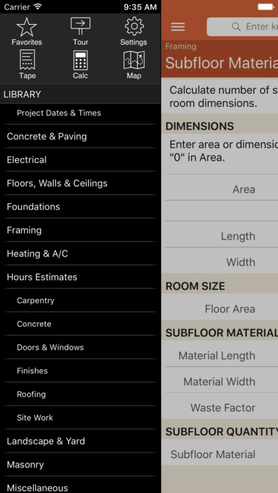 Home Builder Pro Calcs App Report On Mobile Action