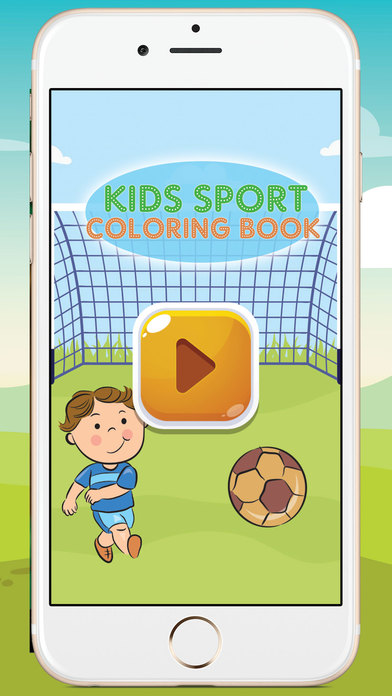 kids sport coloring book app download android apk. Black Bedroom Furniture Sets. Home Design Ideas