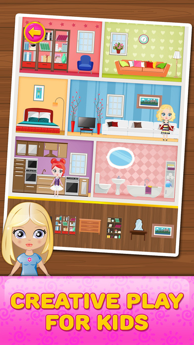 App shopper doll house decorating game games - Home decorating app pict ...